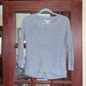 Banana republic grey sparkle light sweater